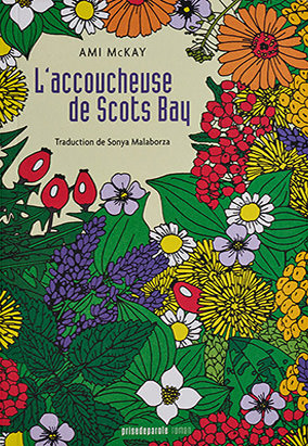 Book cover for L'accoucheuse de Scots Bay, translated by Sonya Malaborza