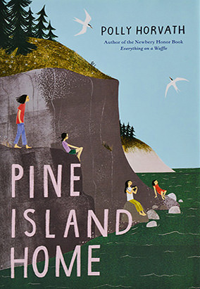 Book cover for Pine Island Home by Polly Horvath